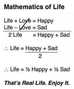 « No todo es amor y felicidad en la vida de cada quien. »