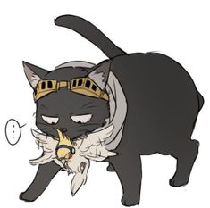 Aizawa shouta and present mic as cat and bird vk my hero academia 消 太 герои My Hero Academia Shouto, Hero Academia Characters, Deku Anime, Aizawa Shouta, Kawaii, Cockatiel, Warrior Cats, Boku No Hero Academy, Neko