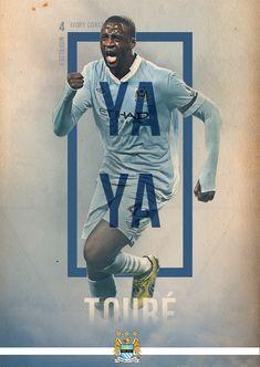 Graphic Design Build with rectangle outline. Manchester City Poster Series by Eduardo Diazmuñoz, via Behance