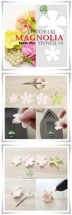 How To Make Foam, Magnolia, Stencils, Paper Crafts, Templates, Facebook, Flowers, Handmade, Diy