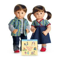New American Girl Bitty Baby~Twins White Ankle Socks~Multi-color