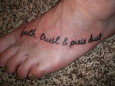 Disney tattoo, except i wouldnt put this on my foot.. the top of the shoulder would be a good placement!