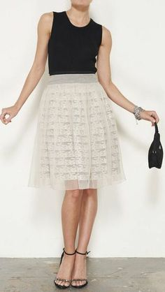 Prada Cream & Black Skirt