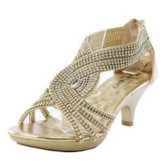 Gold Dress Shoes Low Heel