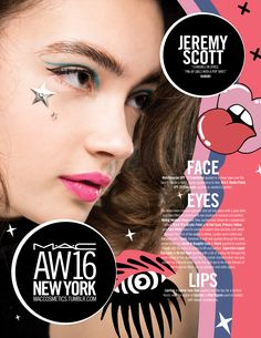M·A·C Backstage at Jeremy Scott AW16 NYFW. Get the look with Lipstick in Candy Yum-Yum!