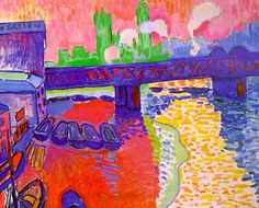 Charing Cross Bridge - Andre Derain - 1906 - At The National Gallery of Art in Washington DC