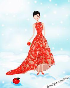 Snow White fairy tale illustration