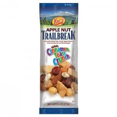 Blaze a new trail with Apple Nut Trailbreak mix. Kar's Nuts teamed up with Cinnamon Toast Crunch to create this exciting new blend that is low in sodium, cholesterol free and Kosher.