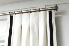 Custom made pleated curtain panel inverted pleats by KirtamDesigns