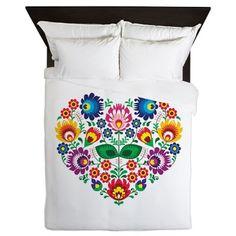 Traditional Polish floral folk embroidery pattern on CafePress.com