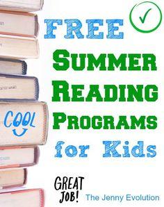 FREE Summer Reading Programs | The Jenny Evolution