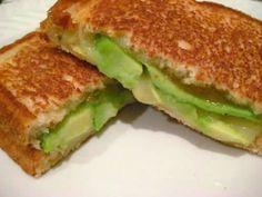 My kitchen: Avocado & orange marmalade sandwich.