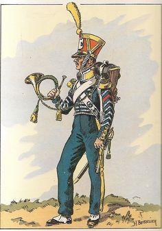 Cornetta dei volteggiatori del 1 rgt. fanteria di linea1814