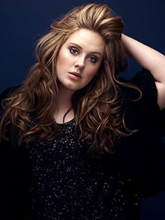 Adele looking glamorous. If I had long hair, this is how I would like it to look.