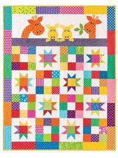 Baby & Kids Quilt Patterns - EXCLUSIVELY ANNIE'S QUILT DESIGNS: Good Night Baby Quilt Pattern Beginner Quilt Patterns, Baby Quilt Patterns, Quilting For Beginners, Print Patterns, Quilting Projects, Quilting Designs, Baby Quilts Easy, Good Night Baby, Heart Quilt Pattern