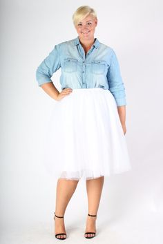 Plus Size Clothing for Women - Softest Chambray Top (Sizes 12 - 18) - Society+ - Society Plus - Buy Online Now!