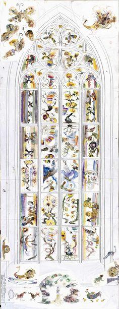 Fijne #Werelddierendag aan iedereen! Hoewel wij geen levende dieren vertonen bij ons in het museum, is onze collectie wel gevuld met items die prachtige dieren afbeelden. Een voorbeeld zijn de vlinders in de ontwerptekeningen voor het glas-in-loodraam in de Nieuwe Kerk door Marc Mulders