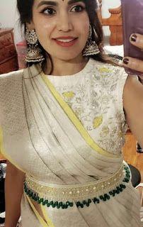 Wedding Saree Blouse Designs, Saree Blouse Neck Designs, Fancy Blouse Designs, Stylish Blouse Design, Saree Trends, Elegant, Saree Belt, Models, Drape Sarees