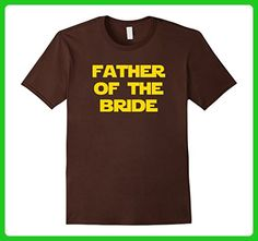 Mens Father of the Bride Galaxy T-Shirt XL Brown - Wedding shirts (*Amazon Partner-Link)