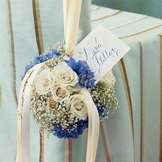 Brides Magazine: Wedding Color Scheme: Blue and Cream