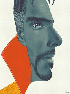 Amazing fan poster of Benedict Cumberbatch's DOCTOR STRANGE : marvelstudios