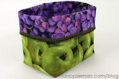 Use a Serger and Maderia Floss to Sew Fabric Bins | Nancy Zieman | Nancy Zieman Blog