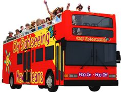 City Sightseeing New Orleans offers Hop-On Hop-Off double-decker bus tours that allow you to see the city at your own pace over 3 days $100 for all of us.