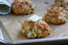 These Zucchini Cheddar Drop Biscuits can be a great breakfast meal or perfect with an Italian Dinner.