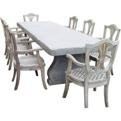 Belgium Blue Stone Table | From a unique collection of antique and modern dining room tables at http://www.1stdibs.com/furniture/tables/dining-room-tables/