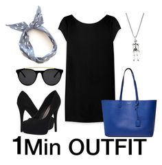 """1 Min OUTFIT #9"" by ce-zara on Polyvore featuring Michael Antonio, Smoke & Mirrors and Yves Saint Laurent"
