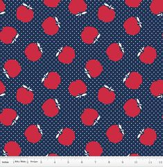 15 Yards in Stock - Riley Blake - Sunnyside Ave - Apple Navy by Amy Smart - 100% Cotton