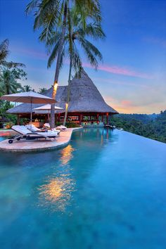 "BALI:  THE VICEROY BALI. A resort in Ubud consisting of 25 luxuriously appointed private pool villas, majestically situated in Bali's ""Valley of the Kings"", an appellation given by locals for the generations of Balinese royalty who have resided in nearby villages. By Hotelied."