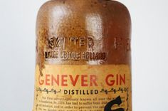 Vintage Lucas Bols Genever Gin Rustic Stoneware
