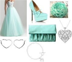 """""""Mint Prom based outfit"""" by grace-1017 ❤ liked on Polyvore"""
