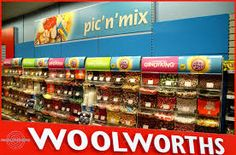 Woolworths Pic and mix  , sadly no longer a store on the high street of Great Britain