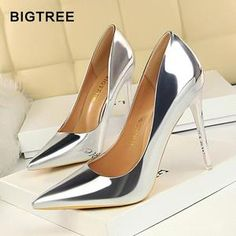 b75ca9cda616 High heel Shoes Patent Leather Pumps Women Fashion