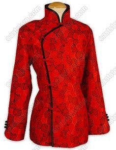 Traditional Rose Brocade Jacket