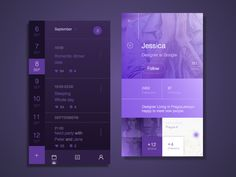 APP UI - purple on Behance