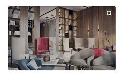Modern Lobby in Moscow with Unique Floor Lamps Beautiful Interior Design, Beautiful Interiors, Modern Interior Design, Interior Designing, Lobby Interior, Interior Architecture, Adobe Portfolio, Unique Floor Lamps, Hotel Lounge