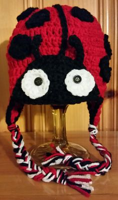Ladybug Lady beetle hat photo prop by KissedbytheMoonB on Etsy