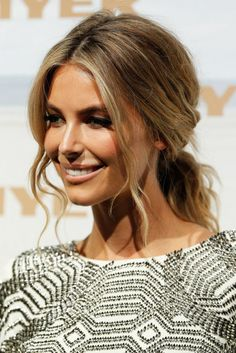 Jennifer Hawkins - tousled low loose ponytail
