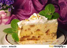 Nepečený pudinkový dort s banánem recept - TopRecepty.cz