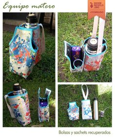 Great idea for a lunch bag. Fun Crafts, Diy And Crafts, Feed Sacks, Reuse, Sewing Projects, Lunch Box, Purses, Handmade, Bags