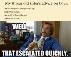 Advice on boys