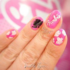Barbie Nail Art Design - http://nailtheday.com/2015/06/barbie-nail-art-design/