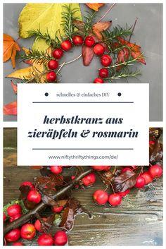 DIY Herbstkranz aus Zieräpfeln & Rosmarin von {nifty thrifty things}