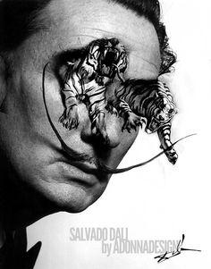 Salvador Dali photo_art by aDONNAdesign
