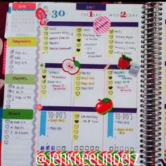 My Erin Condren layout::::Week of July 1st-July 6th #eclifeplanner14