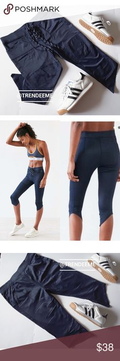 "Navy football leggings New to Posh? Use my code ""TRENDEEME"" to get $5 off your first purchase  💖💖MAKE A REASONABLE  OFFER💖💖  Without Walls navy football legging capri pant from Urban Outfitters. High waist  Drawstring tie-up waist, textured ridges at the knees and thighs. Compression fabric for athletic performance.  If you love Lululemon, Athleta and Nike, you're bound to enjoy these.  Size large. Fits US size 8-10 best.   In great used condition. The 'Without Walls' tag has peeled a…"