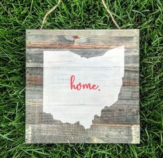 Ohio State home rustic wood plank pallet sign | Ohio State Buckeyes | Ohio State sign | Ohio sign | Ohio wood sign | Buckeyes | State sign by CoastalCraftyMama on Etsy https://www.etsy.com/listing/241483658/ohio-state-home-rustic-wood-plank-pallet